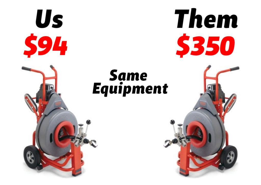 Us $94 versus Them $350